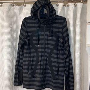 Lululemon stride striped zip up jacket